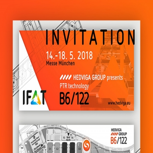 Invitation for IFAT 2018 - HEDVIGA GROUP